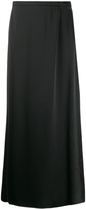 LA COLLECTION Silk Flared Maxi Skirt