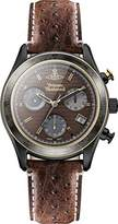 Vivienne Westwood Men's Sotheby Quartz Chronograph Display Watch with Brown Dial and Brown Leather Strap VV142BRBR