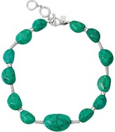 Robert Lee Morris Turquoise Stone Frontal Necklace