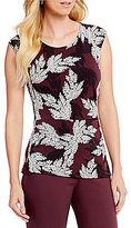 Preston & York Angela Floral Print Side Ruched Top