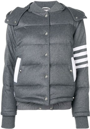 Thom Browne 4-Bar Down Cashmere bomber
