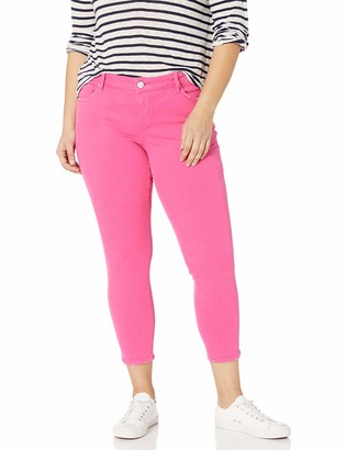 SLINK Jeans Women's Plus Size HOT Pink Ankle 16