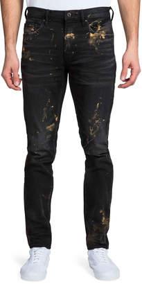 PRPS Men's Windsor Fit Painted Denim Jeans
