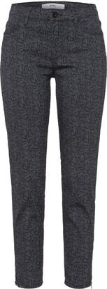 Brax Women's Shakira S Snake Jacquard Skinny Skinny Jeans Grey (Clean Grey) W29/L32 (Manufacturer Size: 38)