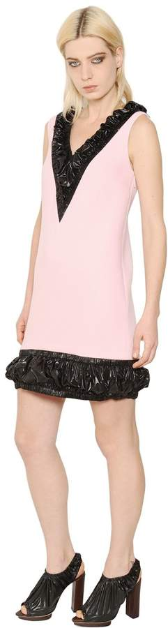 Christopher Kane V Neck Wool Crepe Dress