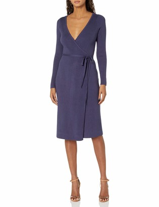 GUESS Women's Long Sleeve Everly Wrap Sweater Dress