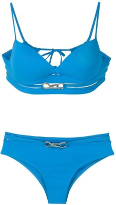 AMIR SLAMA Metallic Embellishments Bikini Set