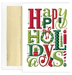 MASTERPIECE Holiday Cards Set of 18