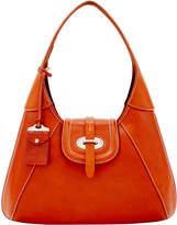 Dooney & Bourke Florentine Toscana Front Stitch Hobo Shoulder Bag