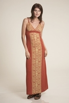 Testament Raj Strap Maxi Dress in Orange