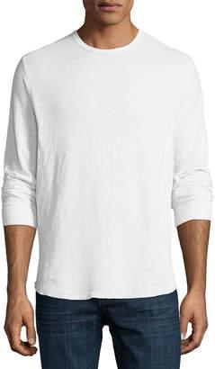 Vince Double-Knit Long-Sleeve Crewneck T-Shirt