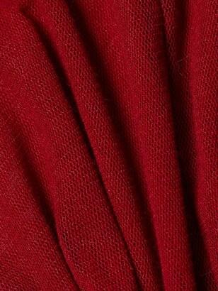 LaQuan Smith Sheer Silk Turtleneck Top