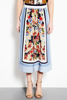 Decoy Flowers Stripe Silk Crepe Culottes