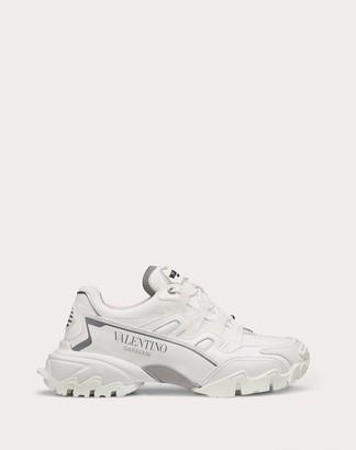 Valentino Climbers Sneaker In Fabric And Calfskin Leather Women White 100% Pelle Di Vitello - Bos Taurus 35