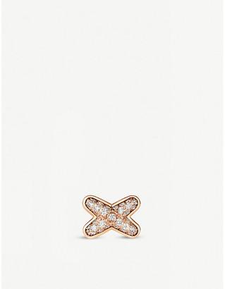 Chaumet Jeux de Liens 18ct rose-gold and diamonds stud earring