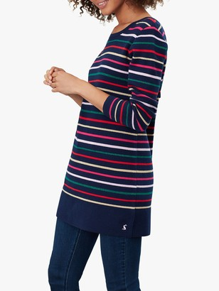Joules Estelle Stripe Tunic Top, Navy