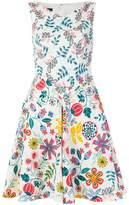 Talbot Runhof flared floral dress