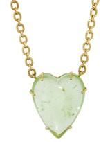 Irene Neuwirth 34.94 Carat Green Tourmaline Heart Necklace - Yellow Gold