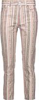 Etoile Isabel Marant Nahia cropped mid-rise printed slim-leg jeans