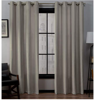 "Exclusive Home Loha Linen Grommet Top Window Curtain Panel Pair, 54"" x 96"""