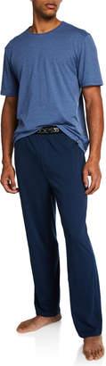 Joe's Jeans Men's Lounge Crew Tee and Logo Pant Set