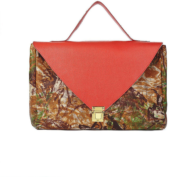 American Apparel Red Camouflage Leather Envelope Case