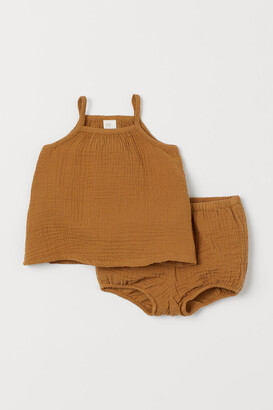 H&M Tank Top and Puff Pants - Yellow