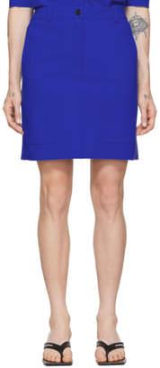 Nina Ricci Blue Bonded Jersey Miniskirt