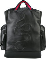 Gucci kingsnake embroidered backpack - women - Calf Leather/Nylon - One Size