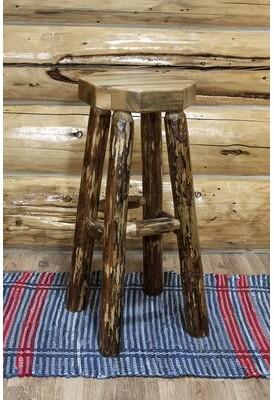 """Loon Peak Tustin Solid Wood 30"""" Bar Stool"""