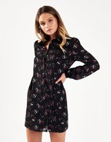 Fashion Union Floral Print Shirt Dress