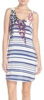 Charlie Jade Placed Print Silk Tank Dress