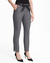 White House Black Market Curvy Plaid Slim Ankle Pants