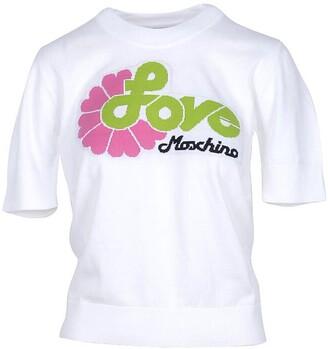 Love Moschino White Cotton Women's Sweater