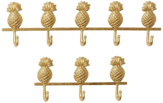 Willow Row Pineapple Metal Wall Hook - Set of 2