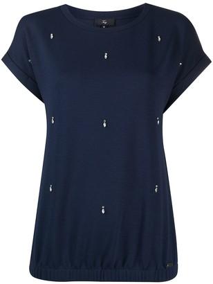 Fay short sleeve embellished T-shirt