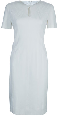 Diane von Furstenberg White Short Sleeve Kader Dress L