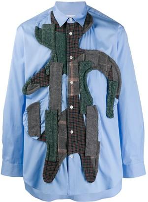 Comme des Garcons long-sleeved patchwork shirt