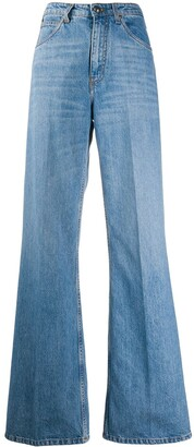 Etro High Rise Flared Leg Jeans