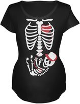 Old Glory Halloween Baby Boy Skeleton Women's Maternity Costume T-Shirt - 2X-Large