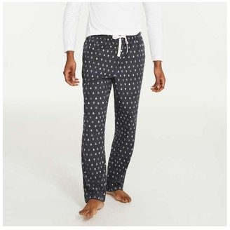 Joe Fresh Men's Print Flannel Sleep Pants, Charcoal (Size M)