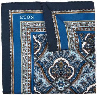 Eton Paisley-print silk pocket square