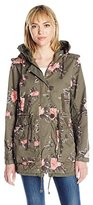 Members Only Women's Olive Floral Print Anorak
