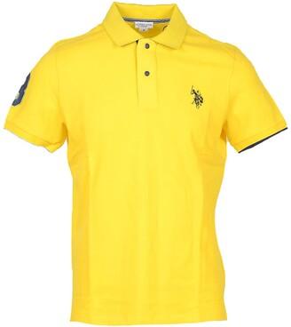 U.S. Polo Assn. Yellow Pique Cotton Men's Polo Shirt