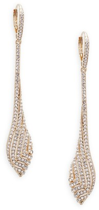Adriana Orsini Zen Goldtone Swarovski Crystal Drop Earrings