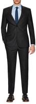English Laundry Notch Lapel Textured Suit
