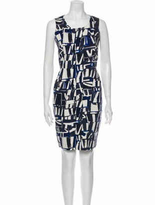 Oscar de la Renta 2011 Mini Dress Blue