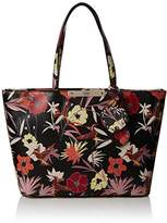 GUESS Hwff6693230, Women's Top-Handle Bag, Multicolore (Blk Floral), 12x22.5x28.5 cm (W x H L)