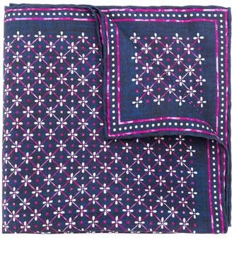 Lady Anne Floral Print Pocket Square