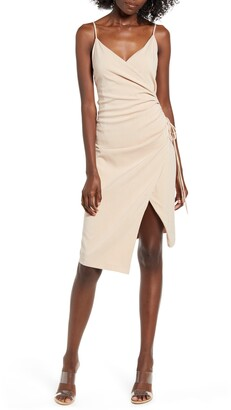4SI3NNA the Label Aerin Sleeveless Faux Wrap Dress